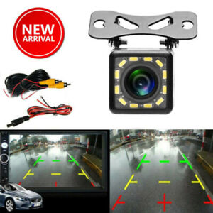 12 LED 170° Camera Reversing Parking Cam Car Rear View Night Vision Waterproof