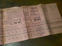 VINTAGE HISTORICAL 1965 VOTING MACHINE DIAGRAM      20/298