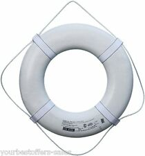 Ring Buoy White USCG Approved Life Ring Beach Equipment Plastic Boat Equipment
