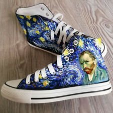 Van Gogh customize sneaker canvas shoes/handpaintedshoe/gift/women men high tops