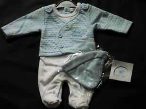 PREMATURE BABY BOY ALL IN ONE  SET WITH HAT