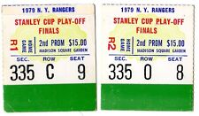 1979 FINALS TICKET STUB STANLEY CUP CHAMPIONS MONTREAL CANADIENS @ NY RANGERS