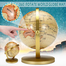 Vintage Style Rotating World Globe Earth Map Geography Education Toy Learn Gifts