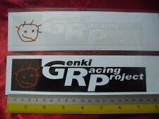 2 GENKI RACING PROJECT di-cut sticker decals, aftermarket racing sponsor