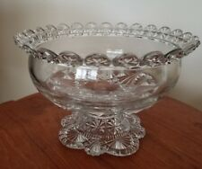 RARE Belmont Glass Antique EAPG Globe & Star Pedestal Compote CA 1887 130 YEARS!
