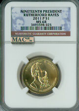 2011-P RUTHERFORD HAYES PRES. DOLLAR NGC MAC MS 68 PQ 2ND FINEST SPOTLESS .
