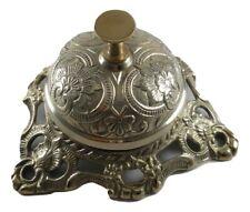 Ornate Solid Brass Hotel Counter Bell Service Desk Bell Service Bells