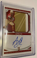 2020 AJ Dillon #56/99 National Treasures COLLEGIATE RC AUTO PATCH Packers BC