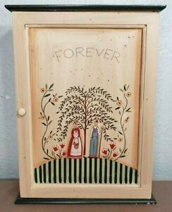Susan Winget Cracker Barrel Simple Heart Forever Key Holder Cabinet