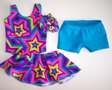 "4 piece Set Gymnastics Dance Leotard Clothing to fit 18"" American Girl Dolls"