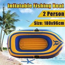 2-person Inflatable Oared Fishing Boat Kayak River Lake Raft Paddles 180*96cm UK