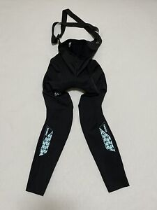 7Mesh Padded Black Bib Tights Winter Cycling Pants Womens Medium Skin Fit