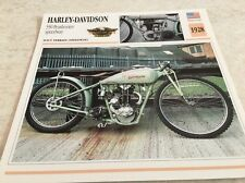 Fiche moto collection Atlas motorcycle Harley Davidson 350 Peashooter 1928
