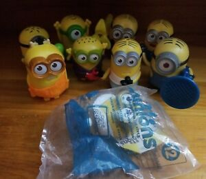 Lot of 9 Minions McDonald's Happy Meal Toys Despicable Me Action Figures (2015)