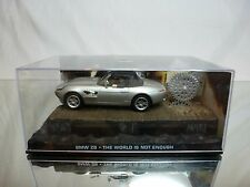 BMW Z8 JAMES BOND 007 THE WORLD IS NOT ENOUGH - SILVER 1:43 - EXCELLENT IN BOX