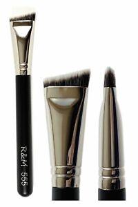 R&M 555 Small Flat Angled Contour brush