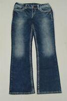Silver 30 x 31 Suki Mid Slim Boot Cut Dark Acid Like Fluid Stretch Denim Jeans