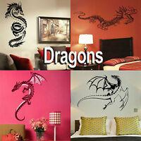 Dragon Wall Stickers - Home Vinyl Transfer - Graphic Art Decal / Decor Stencil