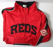 Cincinnati Reds Men's Large National League Track Jacket MLB Majestic W MARK