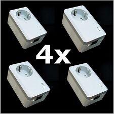 TP-LINK 4 x TL-PA4010P KIT 500Mbps Powerline Adapter TL-PA4015P 4er Set