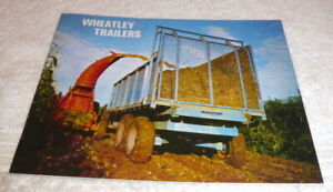 Original full line brochure and prices dated 1971 for Wheatley Trailers