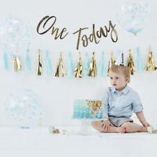 1st Birthday Boys Cake Smash Kit With Balloons Backdrop Party Hat Tassel Garland
