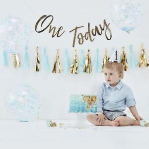 Boys Cake Smash Kit 1st Birthday With Balloons Backdrop Party Hat Tassel Garland