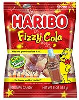 Haribo Gummi Candy, Fizzy Cola Bag, Sour & Tangy (5 Ounces, Pack of 12)