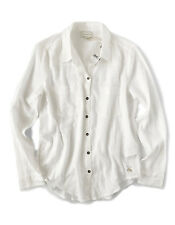 Lucky Brand - Womens M - NWT - Natural Off-White Gauze Button-Down Shirt