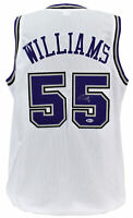 Kings Jason Williams Authentic Signed White Jersey Autographed BAS Witnessed