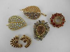 Gorgeous SET LISNER KABU KOBE WEISS AUSTRIA Rhinestone Brooches & Clip Earring