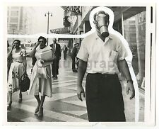 American Pollution - Gas Mask - Vintage 8x10 Photo - Los Angeles, CA - 1958