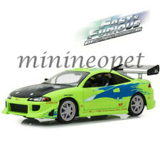 GREENLIGHT 19039 ARTISAN FAST & FURIOUS 1995 MITSUBISHI ECLIPSE 1/18 GREEN