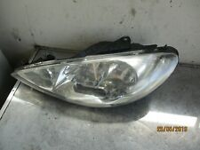 PEUGEOT 206 NS PASSENGER SIDE HEADLIGHT 9630869780