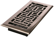 Decor Grates Ajh412-Nkl Oriental Floor Register, Brushed Nickel, 4-Inch by