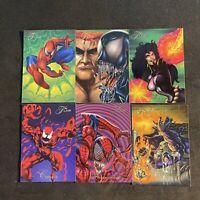 (6) 1994 Marvel Universe Flair Spider Man Maximum Carnage  Part V Lot