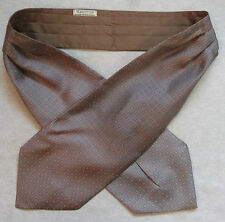 CRAVAT 1980s 1990s MOD RETRO VINTAGE MODERNIST SILK COTTON BROWN BEIGE PINK