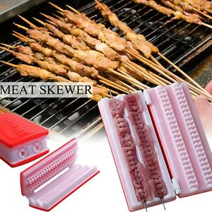 Quick Skewer Easy Barbecue Kebab Maker Meat Skewer Machine BBQ Grill Skewers
