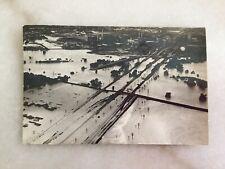 "1949 Fort Worth Flood 5 1/2"" X 3 1/2"" Aerial Photo Stockyard Swift Armour"