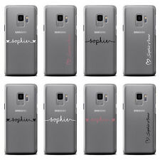 PERSONALISED HANDWRITTEN NAME PHONE CASE FOR SAMSUNG GALAXY CLEAR HARD COVER