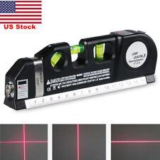 US Multipurpose Laser Level Vertical Horizon Measuring Tape Aligner Ruler New