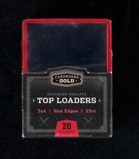 450 CBG Red Border Baseball Trading Card Hard Plastic Topload Holders protectors