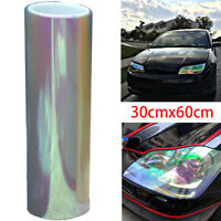 Chameleon color changing tint vinyl wrap sticker headlight film car light lampXS