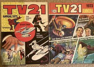TV21 ANNUALS 1972 & 1973 SPIDERMAN SILVER SURFER STAR TREK LAND OF THE GIANTS