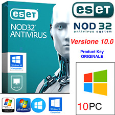 ESET NOD32 Antivirus - 10 PC / 3 Years ANNI ORIGINALE °Product Key Fino al 2020°