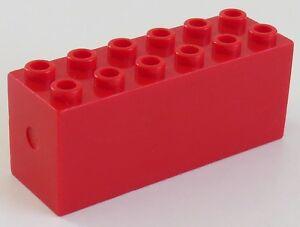LEGO - Stein (Gewicht) / Boat Weight 2 x 6 x 2, rot # 73090b