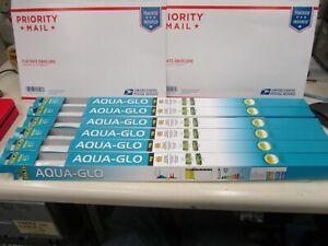 "Aqua-Glo Flourescent Bulbs 20 Watts - T8 (24"" Bulb) NEW LOT OF 6 BULBS , i4"