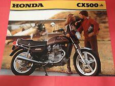 1979 Honda CX500 Motorcycle Sales Brochure - Literature