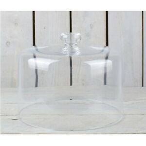 Large Display Glass Cake Cupcake Dome Cover Cloche 26 cm x 20 cm