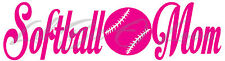 SOFTBALL MOM VINYL DECAL - WITH SOFTBALL IN THE CENTER STICKER GIRL'S LADIES